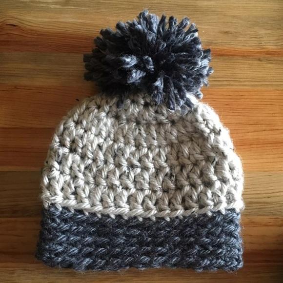 Handmade Accessories Super Soft Chunky Crochet Hat W Pom Pom